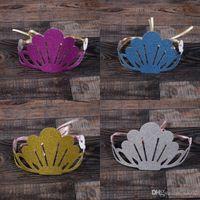 Papier Shell Hut Mode Kinder Geburtstag Crown Form Kappe Viele Farbe Gold Pulver Hüte Für Kinder Party Dekorationen 1 08dy ZZ
