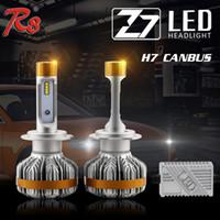 10 sets versand durch DHL Z7 Auto scheinwerfer Canbus ZES LED Scheinwerfer Kit High Power 60 Watt 7000LM 6500 Karat H1 H4 H7 9005 HB3 9007 birne