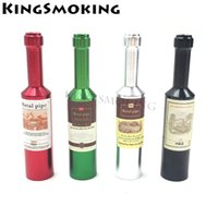 Bottle Shape Metal Pipe Small Wine Bottle Smoking Pipe Cool ...