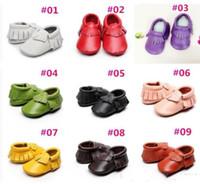 아기 아이 정품 가죽 부드러운 아기 소년 신발 첫 워커 유아 아기 moccasins 유아 프린지 신발 c040