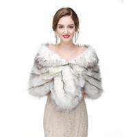2017 nupcial envolve peles faux para casamento festa de noiva baoca jaqueta casaco inverno branco pele xales de casamento CAPES PJ-170923/25