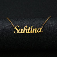 Gold Silver Color Personalized Custom Name Pendant Necklace ...