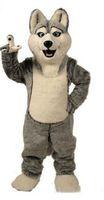 2019 vendita della fabbrica hot Wolf mascotte costumi halloween cane mascotte personaggio vacanza testa fantasia partito costume adulto dimensioni compleanno