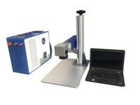 الطاولة 20W 30W الألياف الليزر آلة وسم، MAX العلامة التجارية الموارد. لوسم المعادن والفولاذ المقاوم للصدأ المواد