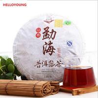 357g Olgun Pu Er Çay Yunnan Klasik antik ağaç Pu er Çay Organik Pu'er Kırmızı Puer En Eski Ağacı Doğal Pu erh Siyah Puerh Çay Kek