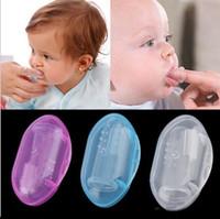 Utile en bonne santé Enfants Bébé Infantile Doux Silicone Doigt Brosse À Dents Dents En Caoutchouc Masseur Brosse avec boîte b644