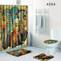 Duvar Duş Perdesi Banyo Odası Setleri Tuvalet Closestool Halı Banyo Pedleri Kapı Mat Takım Eko Dostu Bardian 56dl KK
