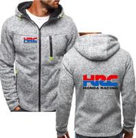 3b4dce475e29 2018 Mode Männer winter herbst Herren Motorrad Hoodies HRC Sweatshirts  Baumwolle Lässig Repsol Reißverschluss Mit Kapuze mäntel Honda jacken