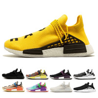 2018  adidas nmd shoes Trail Running Shoes barato Pharrell Williams HUMAN RACE descuento deporte zapatos raza humana Athletic Training Sneaker size36-47