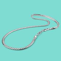 الأزياء 925 الفضة الاسترليني قلادة الرجال الصلبة الفضة سوط قلادة نمط الشرير نمط الذكور نماذج شعبية مجوهرات 6mm51cm سلسلة