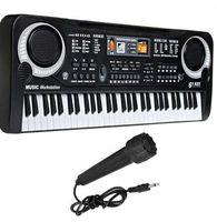 Müzikal Oyuncaklar Taşınabilir 61 Tuşlar Elektronik Piyano Klavye Mikrofon Ile Müzikal Eğitici Çocuk Oyuncak Hediye Erkek Kız Için