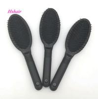 10pcs No.2 Durable schwarz Loop Brush für Haarverlängerung / Professional Hair Comb