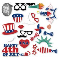 24pcs set 4th of July Photo Booth Props DIY Kit for America ...