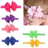 Children Baby Girl Candy Color Bow Hairband Butterfly Ribbon...