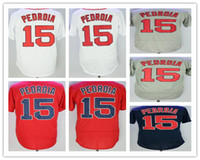 Men' s 15 Dustin Pedroia Jersey Home Away Alternate whit...