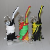 In stock Silicon Hookah Oil Drum Rigs Mini Silicone Rigs Wat...