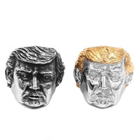 Free shipping Wholesale USA President Trump Ring Stainless S...