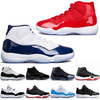 sale retailer 6b8bf 9aafb Hombres 11 11s Zapatos de baloncesto Gorra y bata Gamma Azul Iridiscente Gimnasio  Rojo UNC Concord