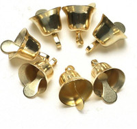50pcs lot 10mm Gold Metal Trumpet Bells for Christmas Tree H...