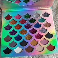 Cleof Kozmetik Denizkızı Glitter Prizma Paleti Makyaj Göz Farı Paleti 32 Renkler ve Kaliteli DHL Ücretsiz Kargo