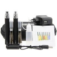 CE4 ego T de arranque Kits de cremallera doble caja del kit de cigarrillo electrónico kits 2 CE4 atomizadores 2 baterías 650mAh 900mAh 1100mAh E Cigarette