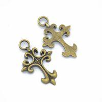 Pendentif Fleur, croix DIY MM PCS / Lot de Lis Crucifix Craft 100 Good for Charms Pendentif, 47 * 31 Dogjs
