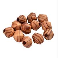 Pandahall 500 pcs 16x15mm Natural Contas De Madeira grande Buraco Spacer Beads Bicone Para DIY Jóias Artesanato Fazendo Peru kralen cuentas