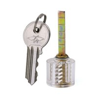 شفاف الممارسة 5 اسطوانة حافة الممارسة قفل - واضح الاكريليك الممارسة قفل لتحسين قفل اختيار مهارة الخاص بك - للمبتدئين الأقفال