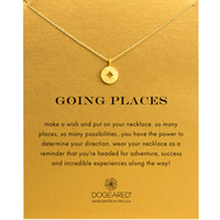 Fashion Dogeared Necklace compass Pendant, WITH CARD gold co...