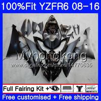 Впрыск для YAMAHA YZF600 YZFR6 матовый черный 08 09 10 11 12 YZF-600 234HM.17 YZF 600 R 6 YZF-R6 YZF R6 2008 2009 2010 2011 2012 Обтекатели