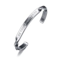 "Antique Silver Hand- Stamped "" be your own hero"" Twi..."