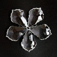 20 pcs de Cristais de Chumbo Claro Cristais Lustre Lâmpada Prismas Peças Penduradas Maple Leaf Pingente Acessórios de Iluminação Decoração