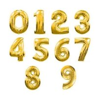 Part decoration 16 inch Gold sliver number Balloons air Ball...