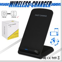 2 Coils Qi Fast Wireless Charger Stand Charging Pad For IPho...