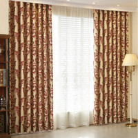 European Style Flower Jacquard Blackout Curtains for Living ...