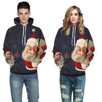 하라주쿠 산타 클로스 3D 디지털 인쇄 Streetwear 스웨터 통기성 남성 여성 풀오버 플러스 크기 크리스마스 스웨터 SD06