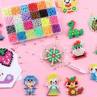 새로운 24 색상 크리스탈 DIY 아쿠아 비즈 물 스프레이 마술 손을 3D 퍼즐 교육 장난감 어린이를위한 만들기 게임 공
