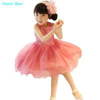 Юмор медведь повседневный стиль девушки одежда мода девушки блесток жилет платья девочки платье Детская одежда