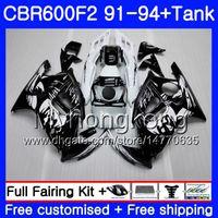 Кузова для Хонда ЦБР 600 Ф2 Ф2 ЧЗ CBR600 1991 1992 1993 1994 1MY72 CBR600FS ЦБ РФ 600F2 91 92 93 94 CBR600F2 CBR600RR обтекатель комплект черный граффити