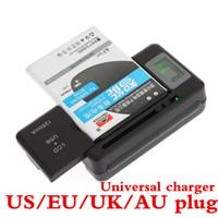 Drop shipping Evrensel YIBOYUAN Pil Şarj için Taşınabilir Cep Telefonu pil Şarj + USB-Port Smartphone Pil Için