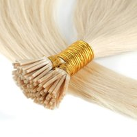 Top Quality 613 Blonde i stick i-tip in human hair extensions straight Brazilian pre-bonded hairextensions 200 gram fast delivery