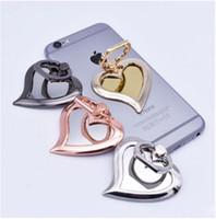 Dhl 4 renk evrensel 360 derece ayna kalp şekli parmak yüzük tutucu telefon cep telefonları için iphone 7 6 s samsung için standı