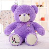 19. 5inch Lavender Plush Teddy Bear Toy Purple LED Night Ligh...