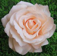10 cm Große Stoffqualität Silk Rosen Köpfe Diy Hängende Küssen Bälle Blumenarrangements Zubehör Hochzeit Dekorationen 10 teile / los