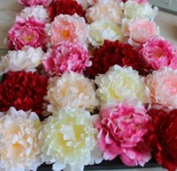 Artificial Flowers Silk Peony Flower Heads Party Wedding Dec...