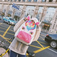 50pcs Unicorn Backpack Women Canvas Pouch Gift Bags Children...
