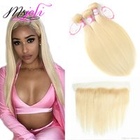 613 Blonde Bundles Indian Virgin Hair 613 Blonde Straight Hu...