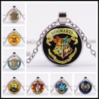 9acc97b7fc99 Joyería cinematográfica para los fanáticos Hogwarts Glass Cabochon Collares  de plata Tiempo Gem Pendants para mujeres Regalo de la joyería