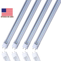 Stock en US + bi pin 4 pies led t8 tubos Luz 18W 22W 28W Doble filas T8 Reemplace el tubo regular AC 110-240V UL FCC