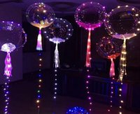 50 ensembles / lot 18 pouces Ballon Led Lumineux 3M LED Guirlande Lumineuse Bulle Ronde À Bulles Hélium Ballons Enfants Jouet Décoration De Noce